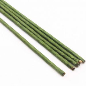Florist wires, Dark green, 5 pieces, Length 60cm, Diameter 5mm [approximate], Gauge 4, [GAP124]